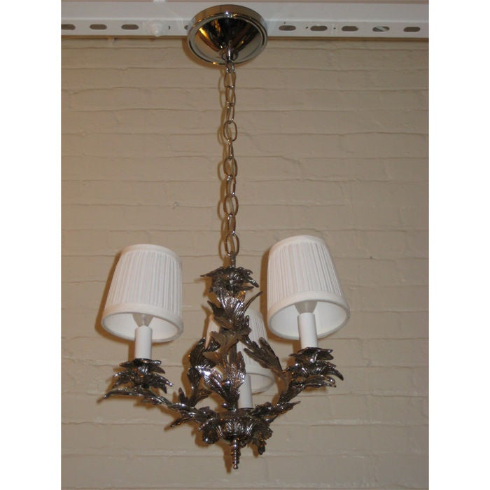 Miniature Three-Arm Chandelier For Sale At 1stdibs