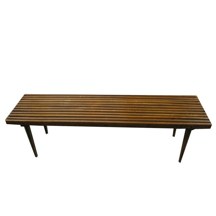 Collection of three mid century modern bench cocktail for Cocktail table with 4 benches