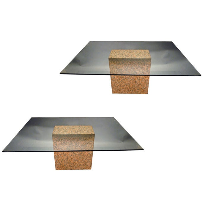 granite dining table for sale. pair or single of granite column dining tables pedestals 1 table for sale