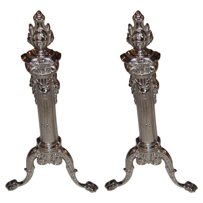 Pair of Petite Art Nouveau Andirons