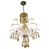 Five-Arm Clear Crystal Hollywood Chandelier