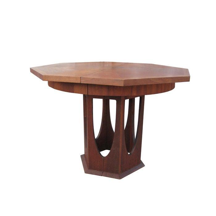 sculptural pedestal octagonal dining table at 1stdibs