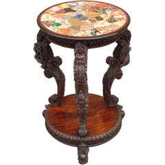 Anglo Indian Specimen Marble Table