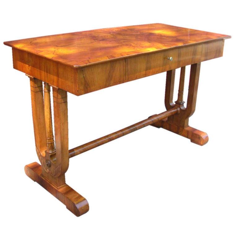 Continental Neoclassical Walnut Sofa Table