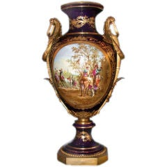 Large Bleu Royal Sevres Porcelain Vase