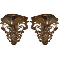 Pair of Giltwood Wall Brackets