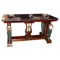 Napoleon 111 Empire Style Mahogany and Gilt Bronze Centre Table