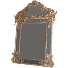 Regence Large Carved Giltwood Mirror