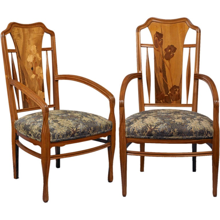Jeffrey Tillou Antiques - Louis Majorelle - Pair of Art Nouveau