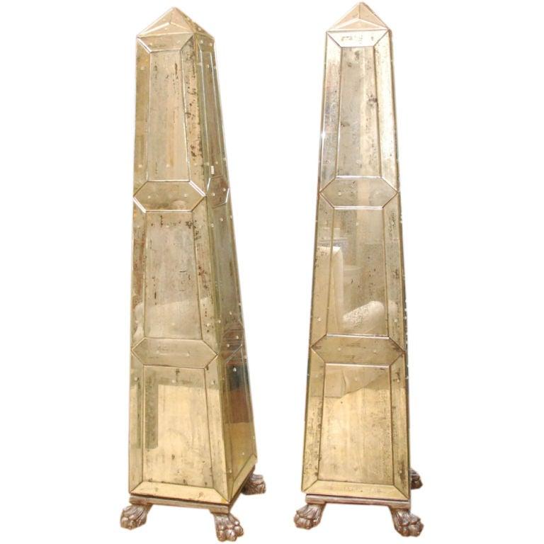 Pair of Mirrored Obelisks