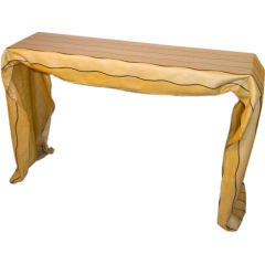 Molded Drapery-Form Console Table