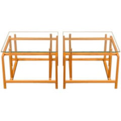 Architectural Side Tables by Henning Norgarrd for Komfort