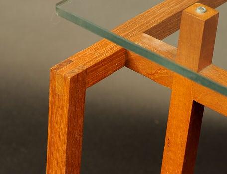 Teak Architectural Side Tables by Henning Norgarrd for Komfort