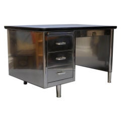 Polished Steel Single Bank Tanker Desk