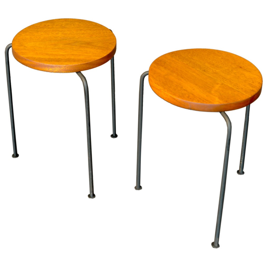 Luther Conover Mahgony Stools At 1stdibs