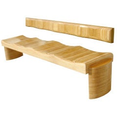 Sculptural Bench by Luis Amador