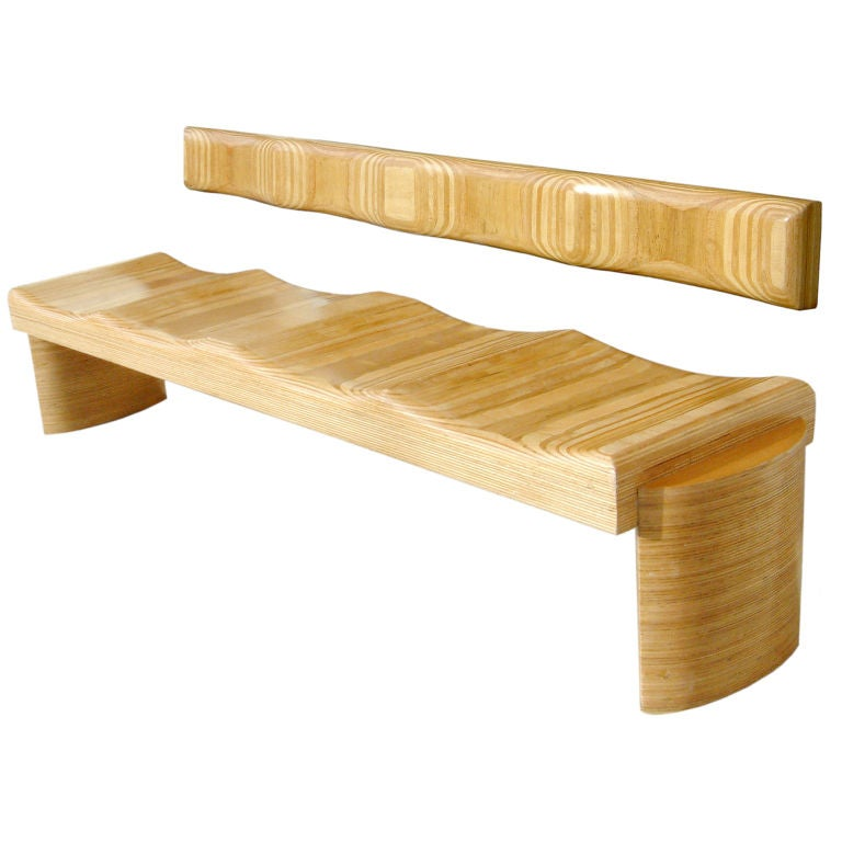 Sculptural Bench by Luis Amador For Sale