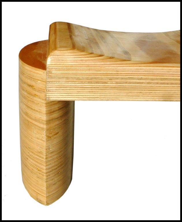 Brazilian Sculptural Bench by Luis Amador For Sale