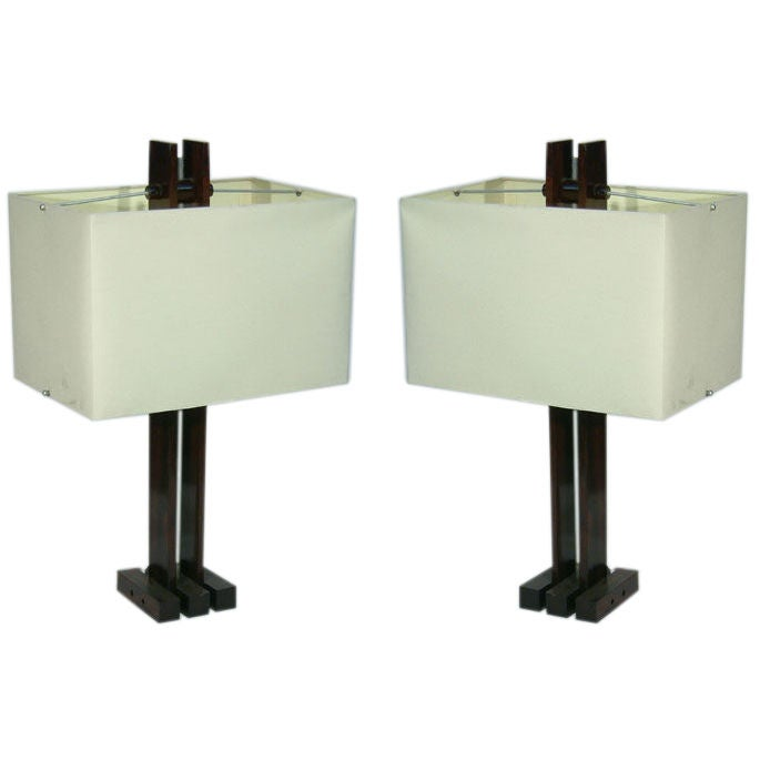Pair of Brazilian Table Lamps