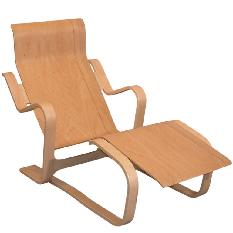 reclining chair by marcel breuer at 1stdibs. Black Bedroom Furniture Sets. Home Design Ideas