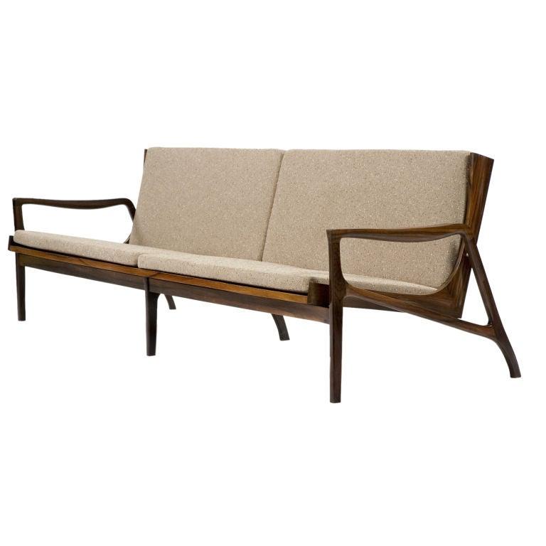 Brazilian Jacaranda Frame Sofa At 1stdibs