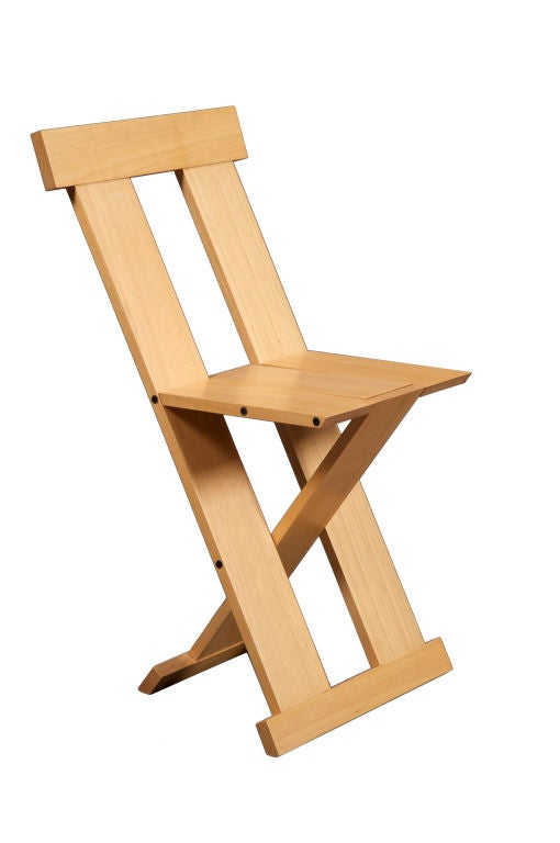 """Frei Egidio"" chair in Tauari wood. Designed by Lina Bo Bardi for Barauna, Brazil, 2005."