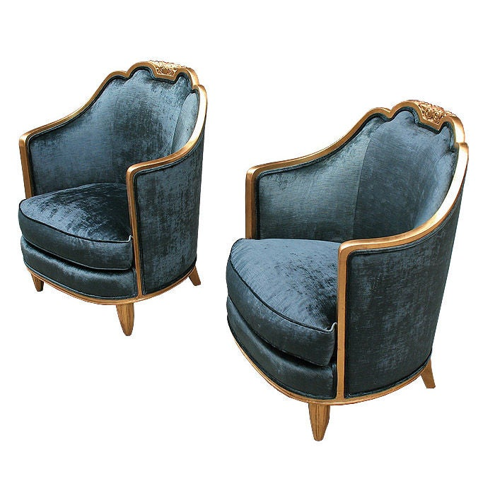 pair of deco club chairs andre groult characteristics at 1stdibs