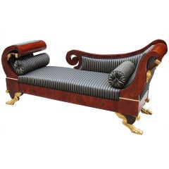 Portuguese Empire Recamier/Daybed of Aristocratic Property