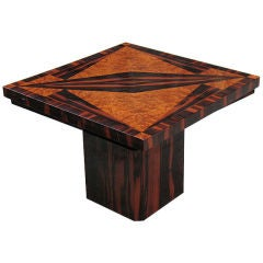 French Art Deco side table in the manner of Dominique