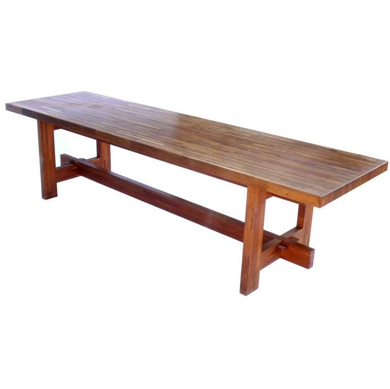 Custom Built Dining Room Tables: One Of A Kind Custom Made Butcher Block Farm Table From