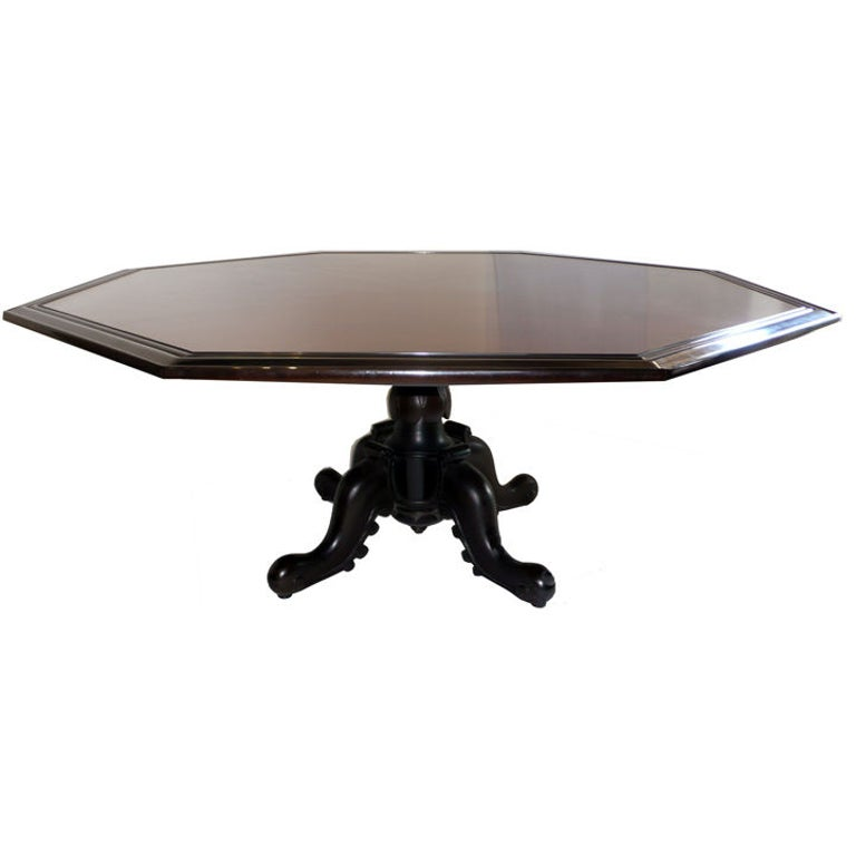 Octagonal Dining Table by Maurice Bailey for Monteverdi & Young 1960s For Sale