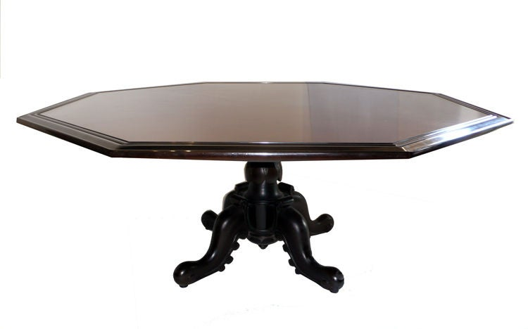 Octagonal Dining Table by Maurice Bailey for Monteverdi & Young 1960s In Good Condition For Sale In Dallas, TX