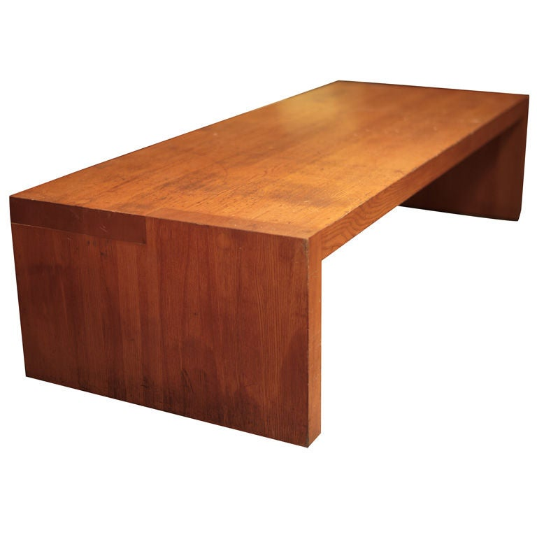 wood block coffee table at 1stdibs