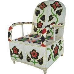 African Hand Beaded Armchair