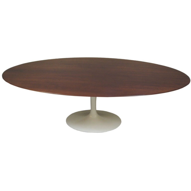 Large 96 oval knoll saarinen dining table at 1stdibs - Saarinen oval dining table dimensions ...