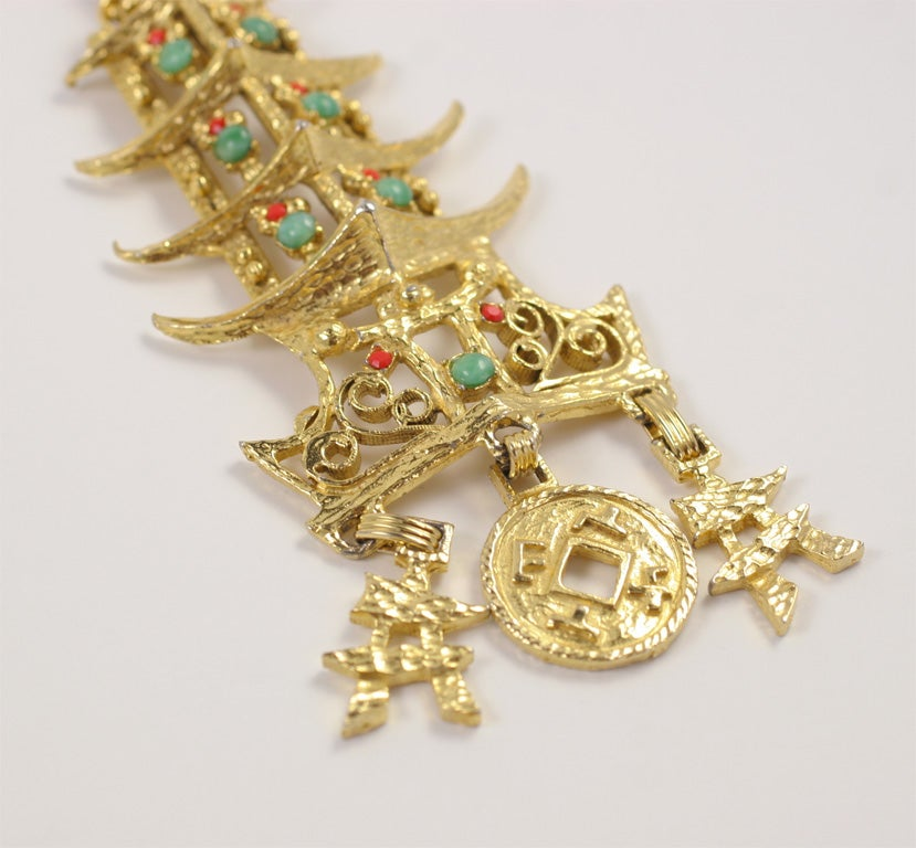 pagoda pendant necklace at 1stdibs