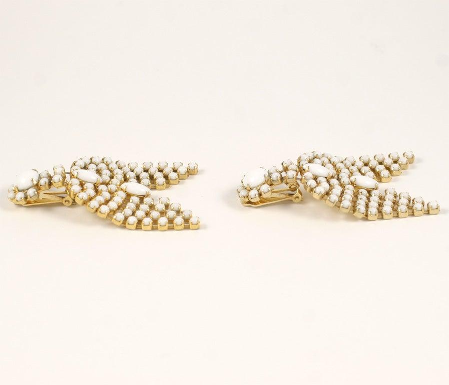 Pair of Milk Glass Earrings 2