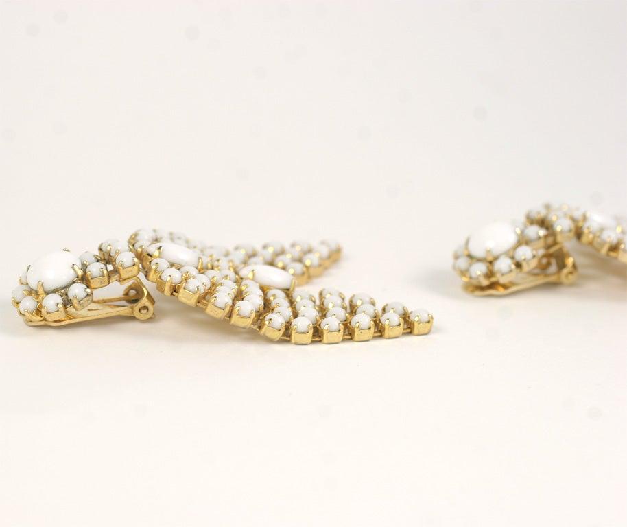 Pair of Milk Glass Earrings 3