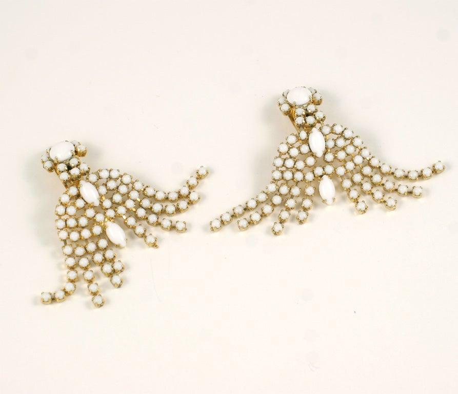 Pair of Milk Glass Earrings 4
