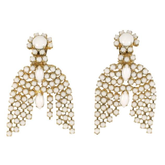Pair of Milk Glass Earrings 1