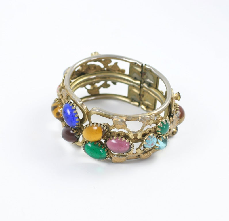Fanciful clamp bracelet. Opening is 2.25