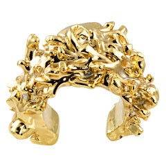 Christian Lacroix Gold Plated Resin Cuff