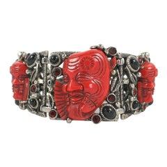 "Selro ""Silver"" Face Bracelet, Costume Jewelry"