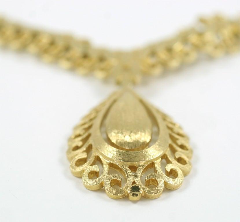 monet quot gold quot florentine necklace for sale at 1stdibs