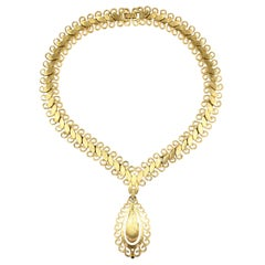 "Monet ""Gold"" Florentine Necklace, Costume Jewelry"