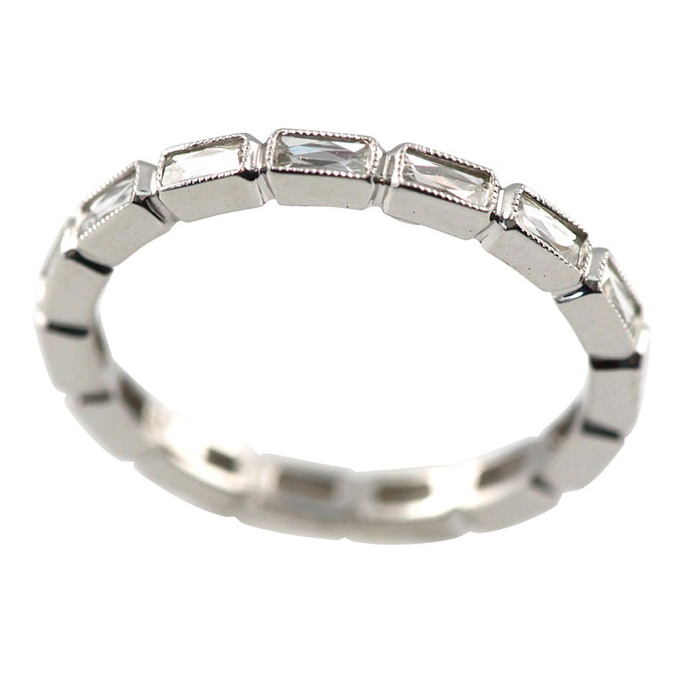 French cut Platinum eternity band