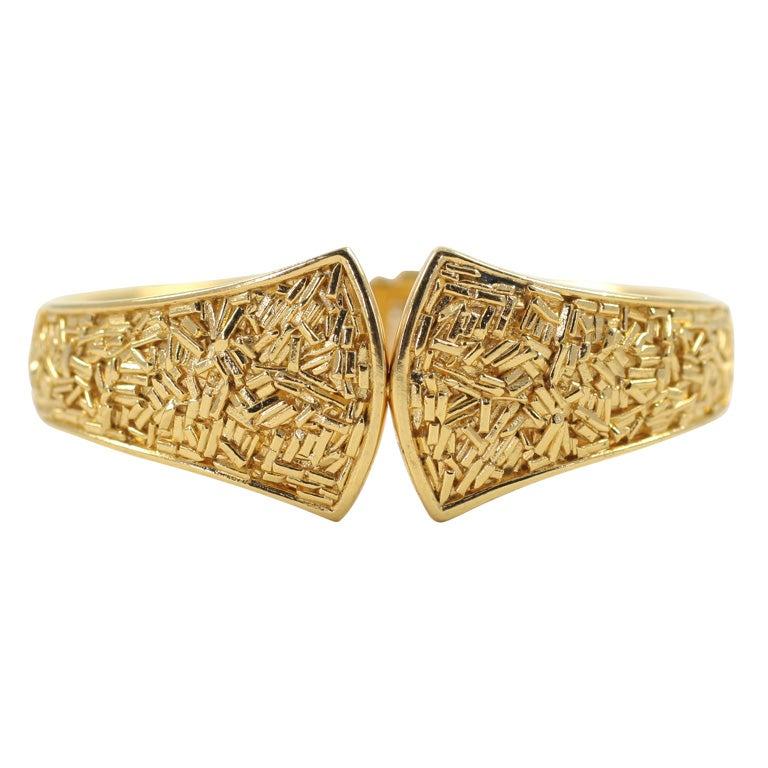 "Trifari ""Gold"" Bracelet, Costume Jewelry"