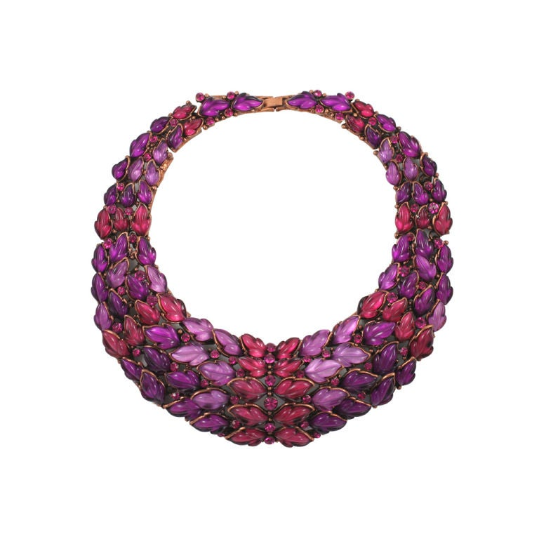 Spectacular Thermoset Collar Necklace 1