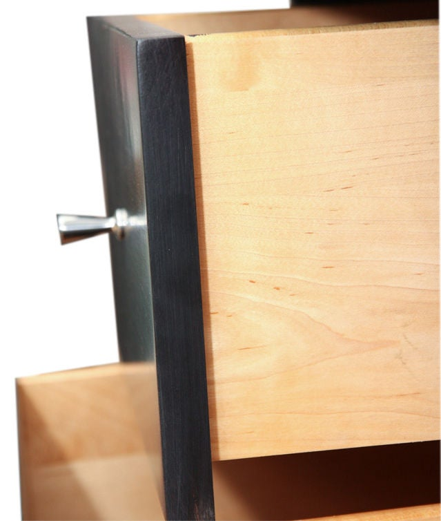 Mid-20th Century Paul McCobb Planner Group black lacquer desk