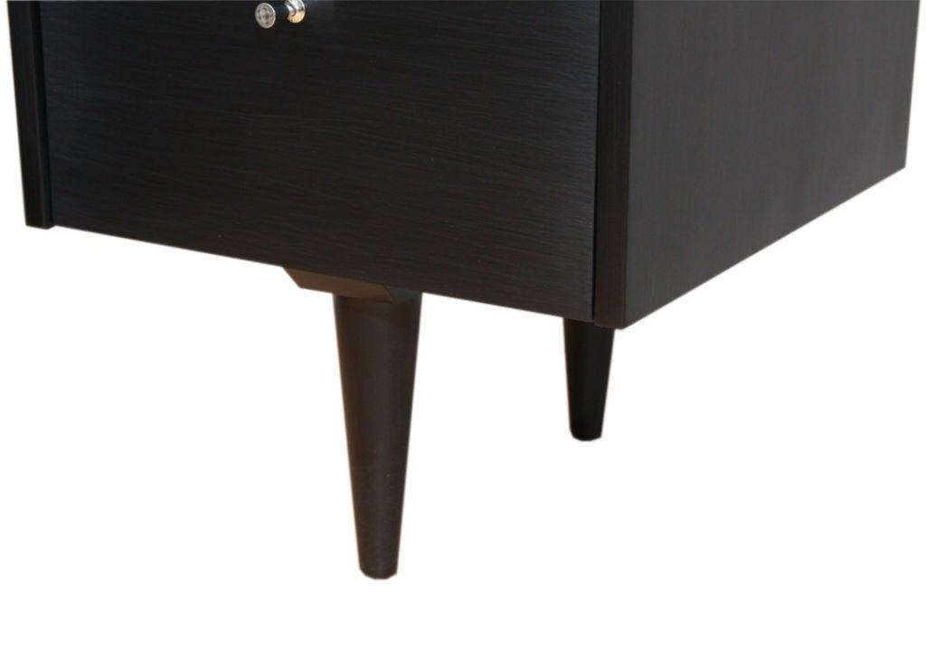 Paul McCobb Planner Group black lacquer desk 2